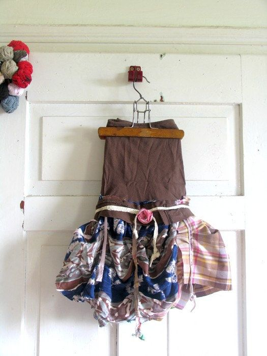 skirtupycled Skirt Eco Chic fairy skirt gypsy  by recyclingroom, $48.00