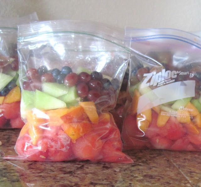 Summer Fruit - I should do this for my kids and husband - smart way to have fresh fruit all year