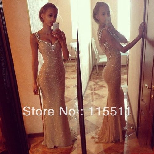 Bling beaded sequin corset mermaid sweetheart long length new arrival gold best selling formal dress sexy luxury evening dresses US $149.00