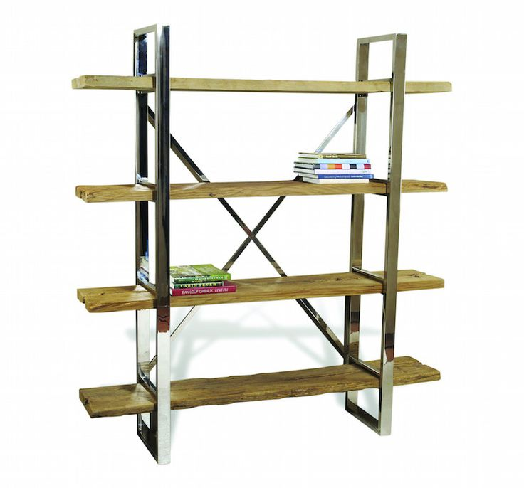Hatcher Silver and Brown Bookshelves