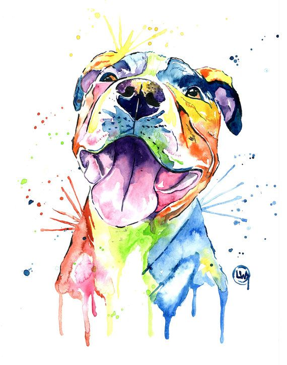 This print is a reproduction of my original painting of a pit bull. I wanted to show the softer happy side of the breed. Sometimes pit bulls get a bad rap, but I have known a ton of fantastic, affectionate and adorable bullies. Printed on acid free uncoated fine art paper using professional inks. The print is shipped in a heavy duty envelope to prevent bending. All artwork is copyrighted by Lisa Whitehouse. Copyright and reproduction rights remain that of the artist. Artwork cannot be…