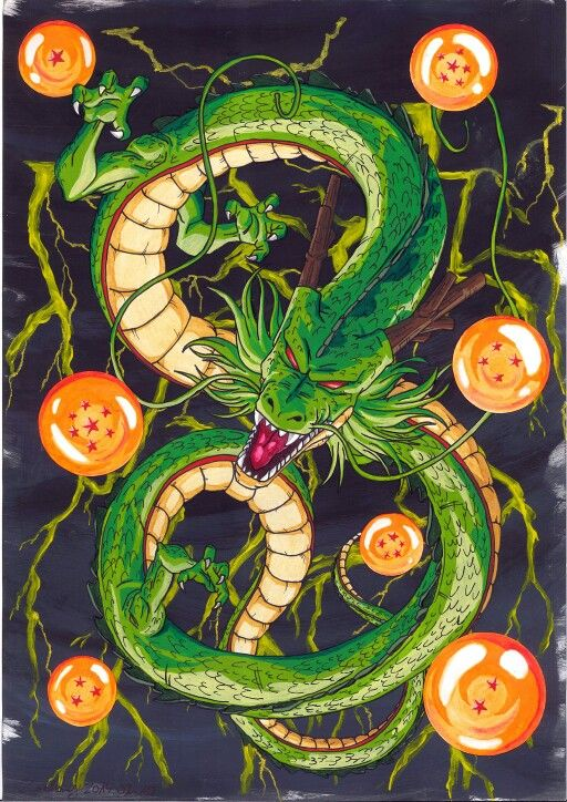 Shenron and the seven magic dragon balls