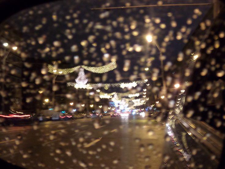 #RainDrops #Bucharest #December #City #Lights