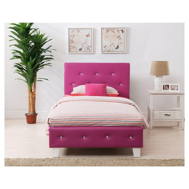 Kelsey Twin Bed - Headboard Set - Pink - Boraam