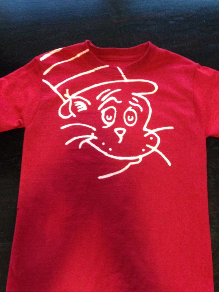 DIY Dr. Seuss shirt, bleach pen | Education | Pinterest