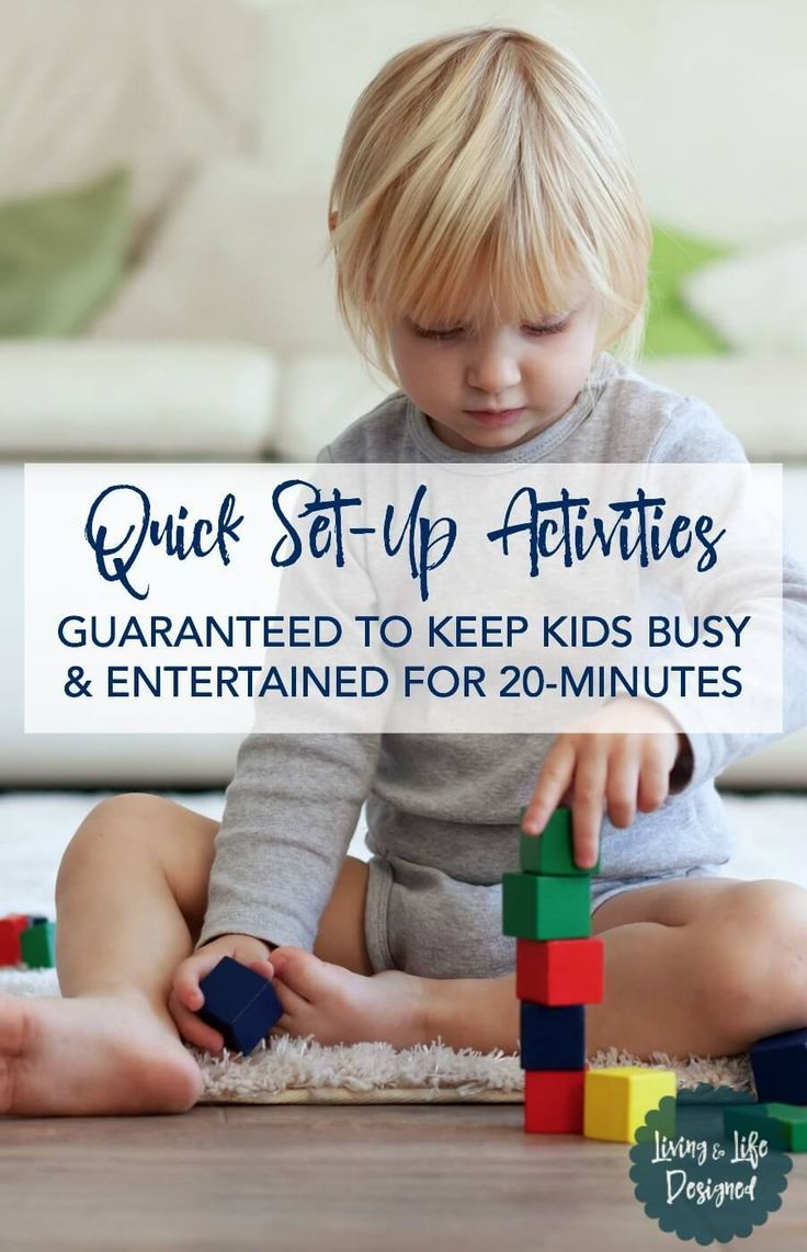 The Best Kid's Quick Set-Up Activities guaranteed to engage & entertain kids for 20-minutes. Quick and easy to set-up and have kids engaged in activities right away.