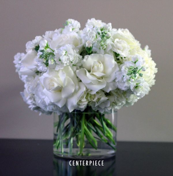 Bridal White Centerpieces! from Bridal Flowers to Go! Wedding Flowers in Houston, TX http://www.bridalflowerstogo.com