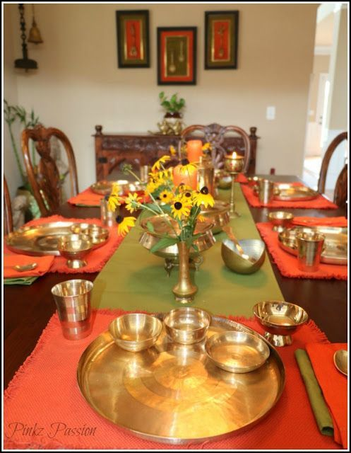 Brass Artifacts Collection Decor Desi Home Dining Room Tour Indian Inspired Interiors Traditional