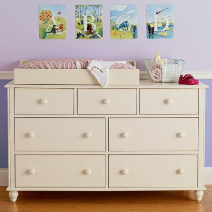 Turning The Guest Room Dresser Into A Changing Table.