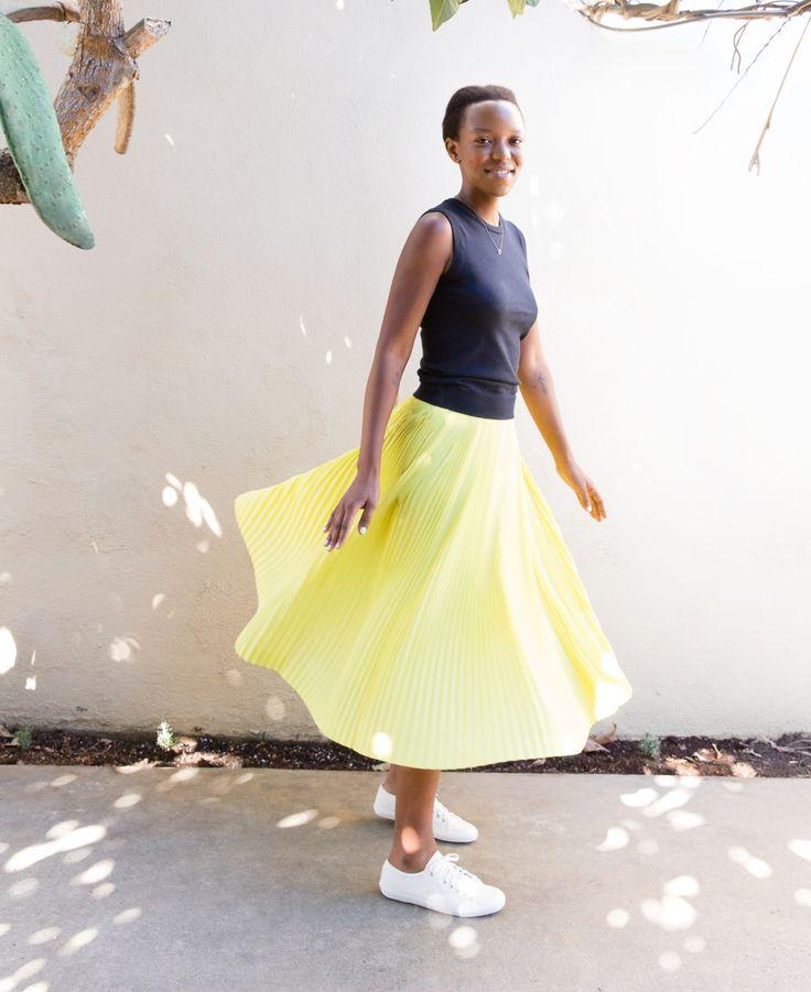 J cre neon yellow dress lyrics