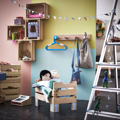 158 best images about roleplay areas on pinterest for Cassette di legno ikea