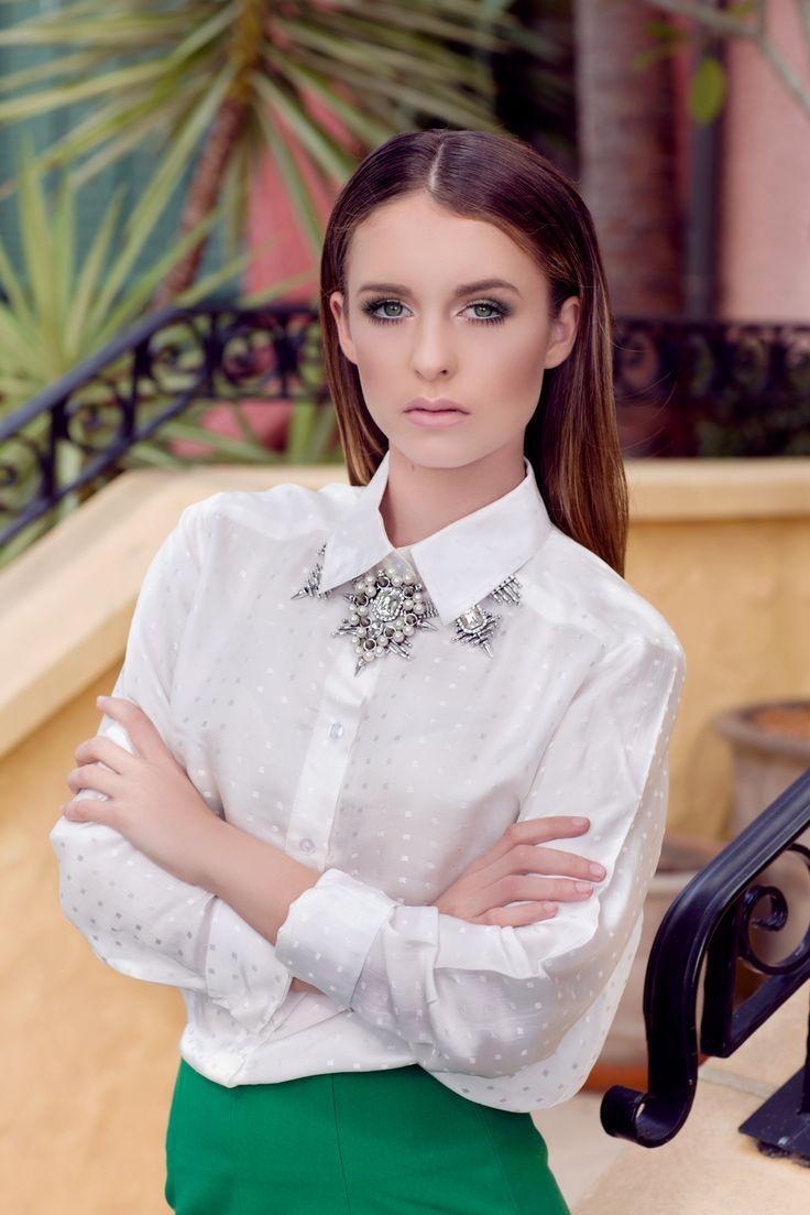 A Parisian Romance | Frock Paper Scissors Stylist: Kelsey Rea Photographer: Camilla Kirk Model: Isabelle Gordon HMUA: Holly Rea Shirt & Skirt: The 400 Co Necklace: Adorne