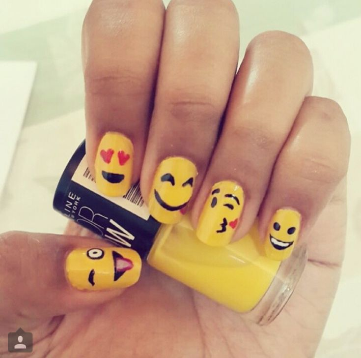 Emoji Nail Art And Some New Kit From Moyou: As 25 Melhores Ideias De Emoji Nails No Pinterest