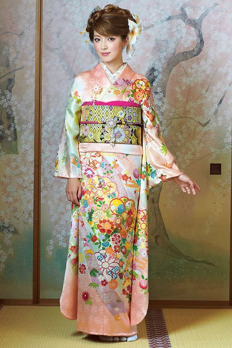 Kimono Furisode/着物 振袖(460×690)