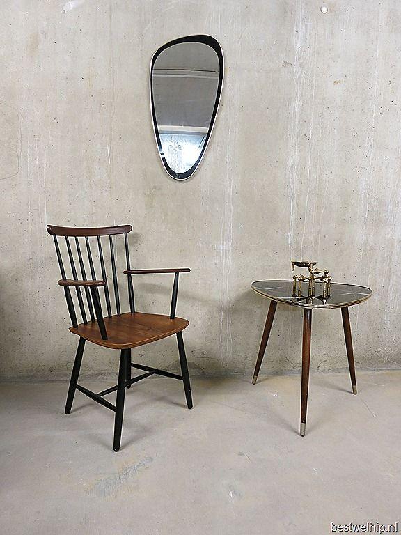 vintage spiegel retro ovaal jaren 50 60, mirror mid century design vintage retro