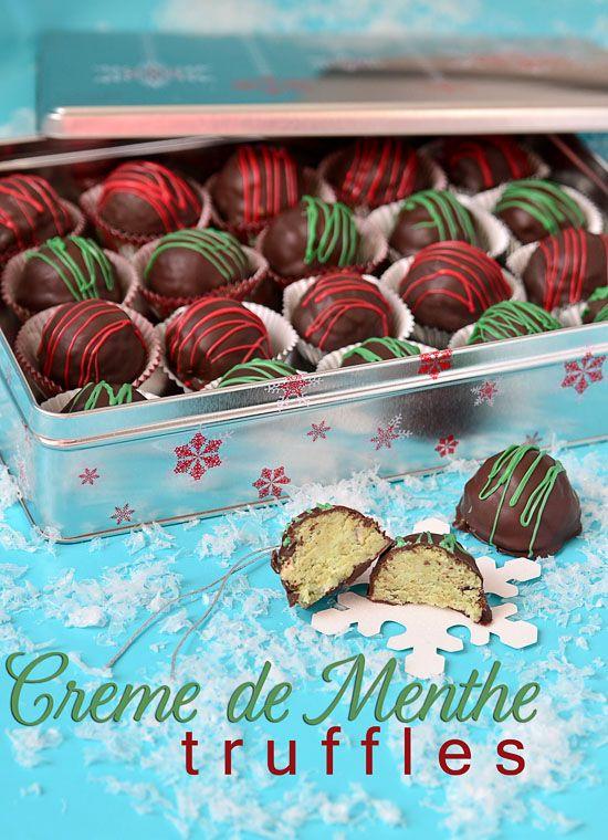 Creme de Menthe #Christmas Cake truffles recipe and tips at TidyMom.net