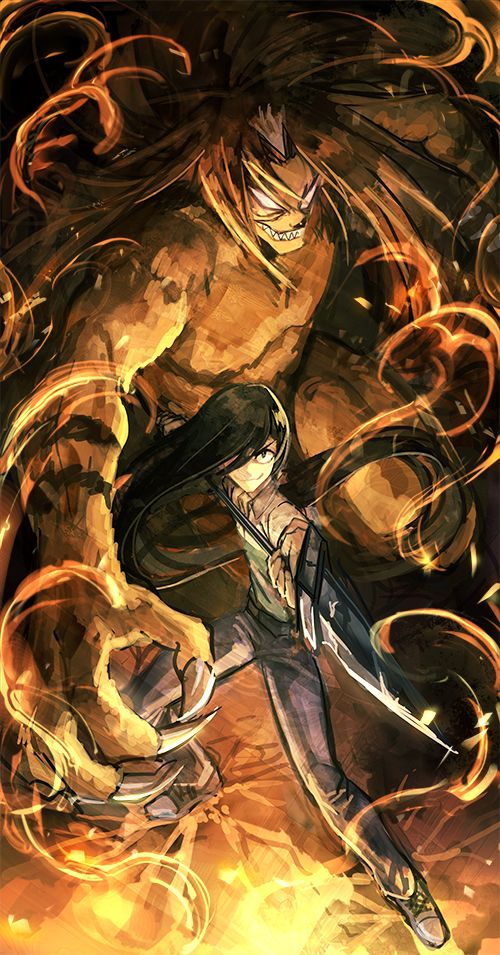 Ushio to Tora - Fan art ...They go so well together The demon and the warrior