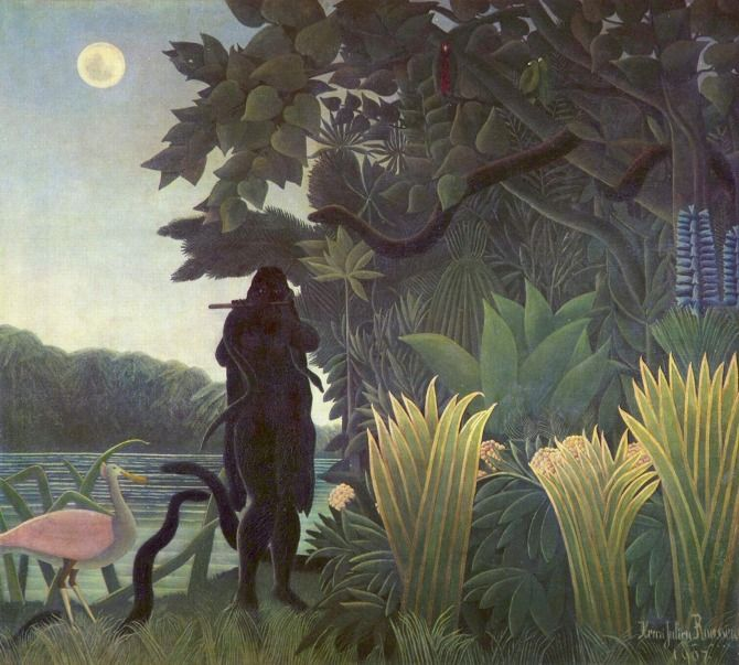 The Snake Charmer by Henri Rousseau, 1907. Oil on canvas