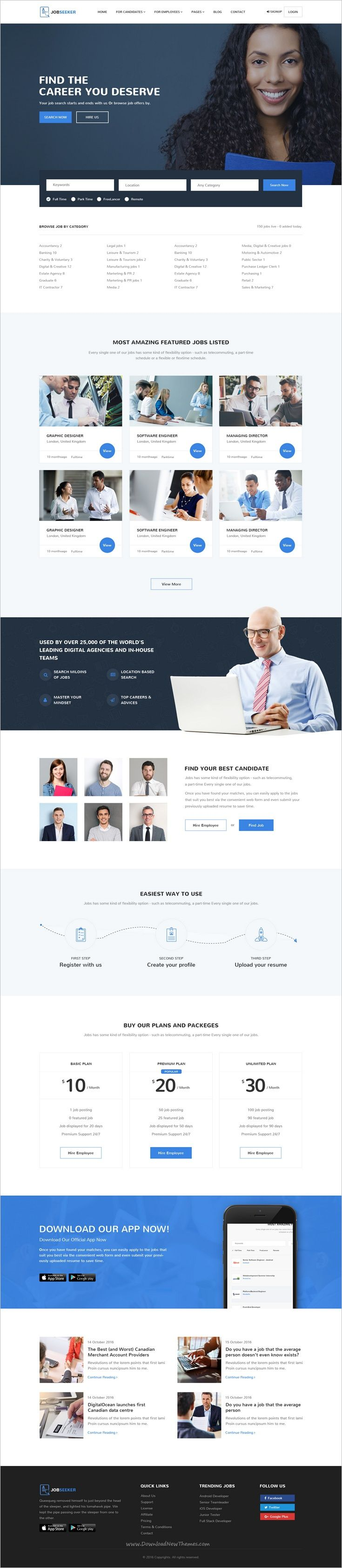 17 best ideas about job portal website layout food jobseeker job portal psd template
