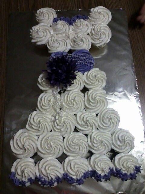 bridal shower cupcake cake wedding shower ideas