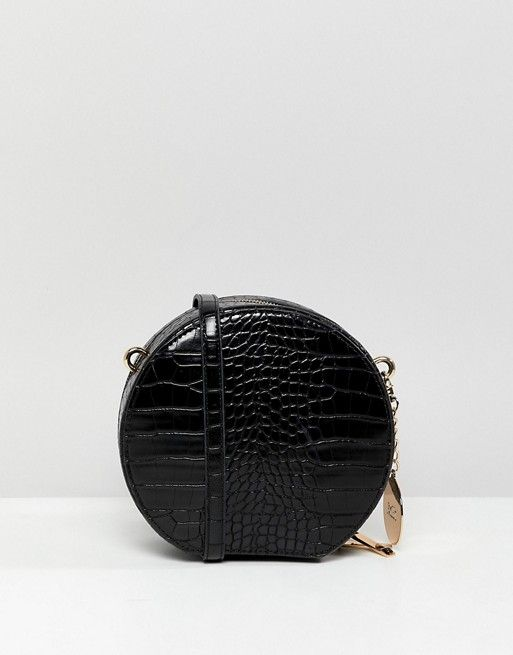 40908e09a2 Faith Round Croc Effect X Body Bag