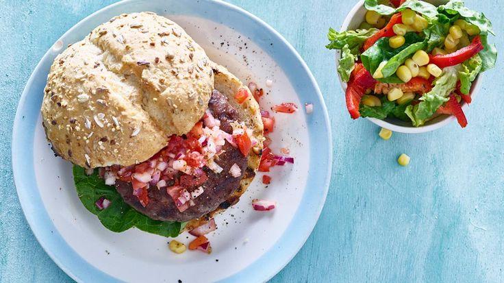 Hamburger met tomatensalsa | VTM Koken