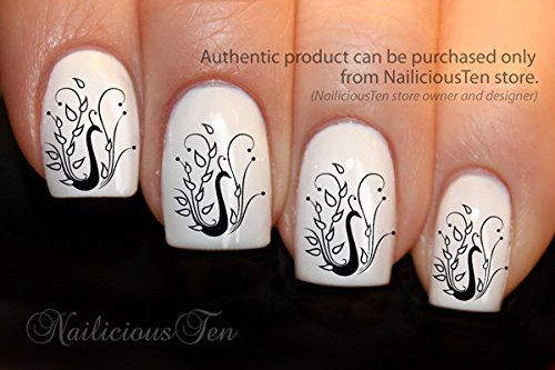 NAILICIOUS TEN Stylish Peacock Nail Art Water Transfer Decal Gorgeous 21pcs - ST8036 *** You can find out more details at the link of the image.
