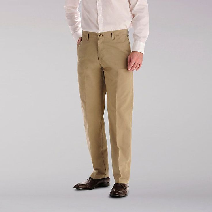 Lee Men's Total Freedom Flat Front Pants (Size 38 x 34)