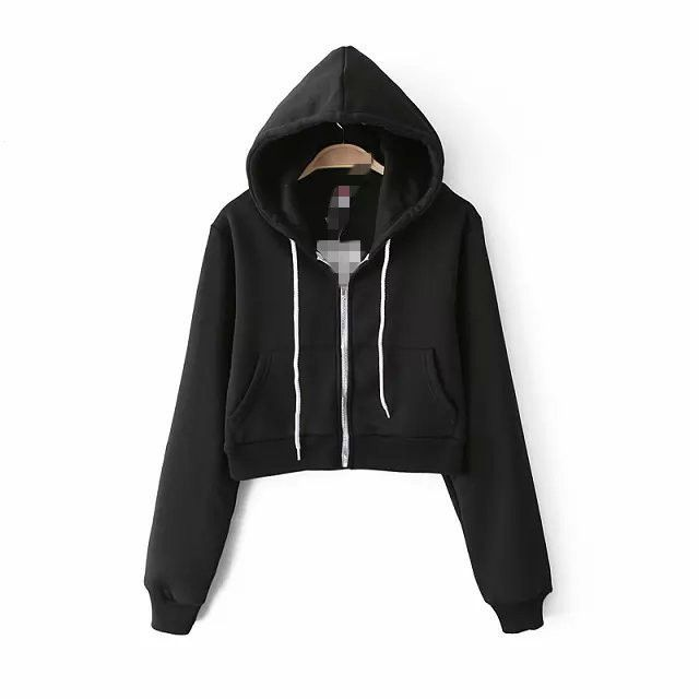 I think this hoodie is pretty short can make your body more attractive.This is a short hoodie, you will wear very sexy.This hoodie is your great choice.You will become very beautiful. Size:S, M, L Col