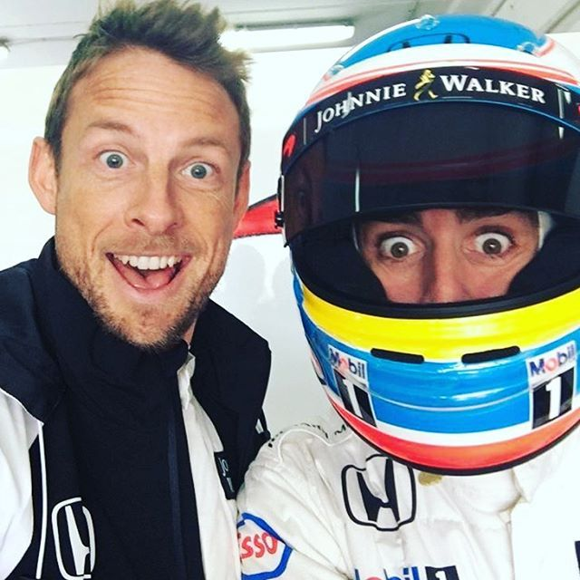 Jenson Button & Fernando Alonso