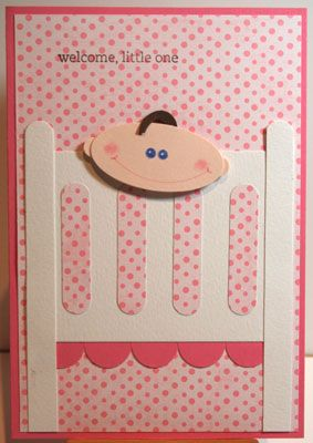 Cute punch baby card Stampin' Up!