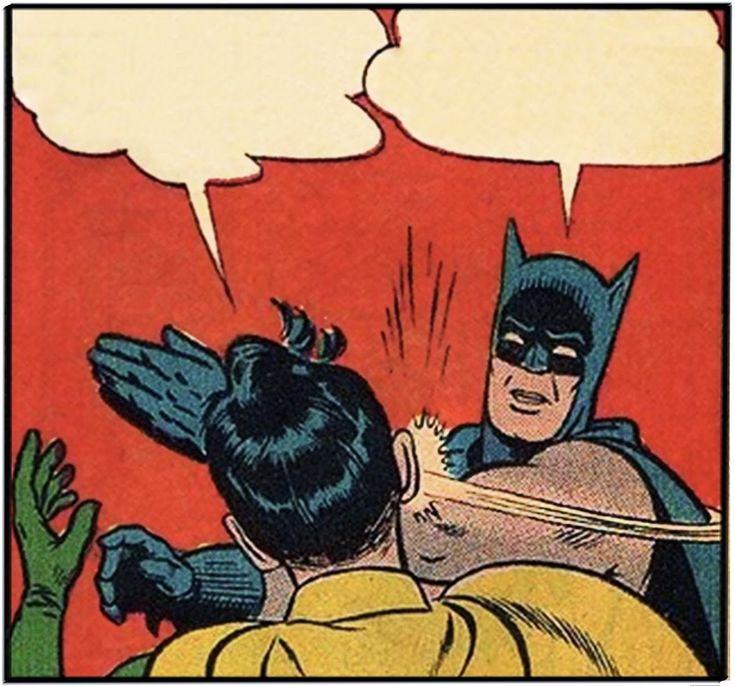 Blank Batman and Robin slap meme | Batman slapping robin
