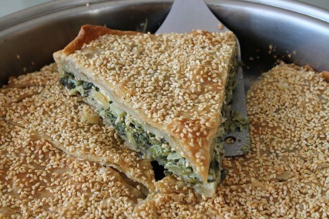 Delicious spinach pie!
