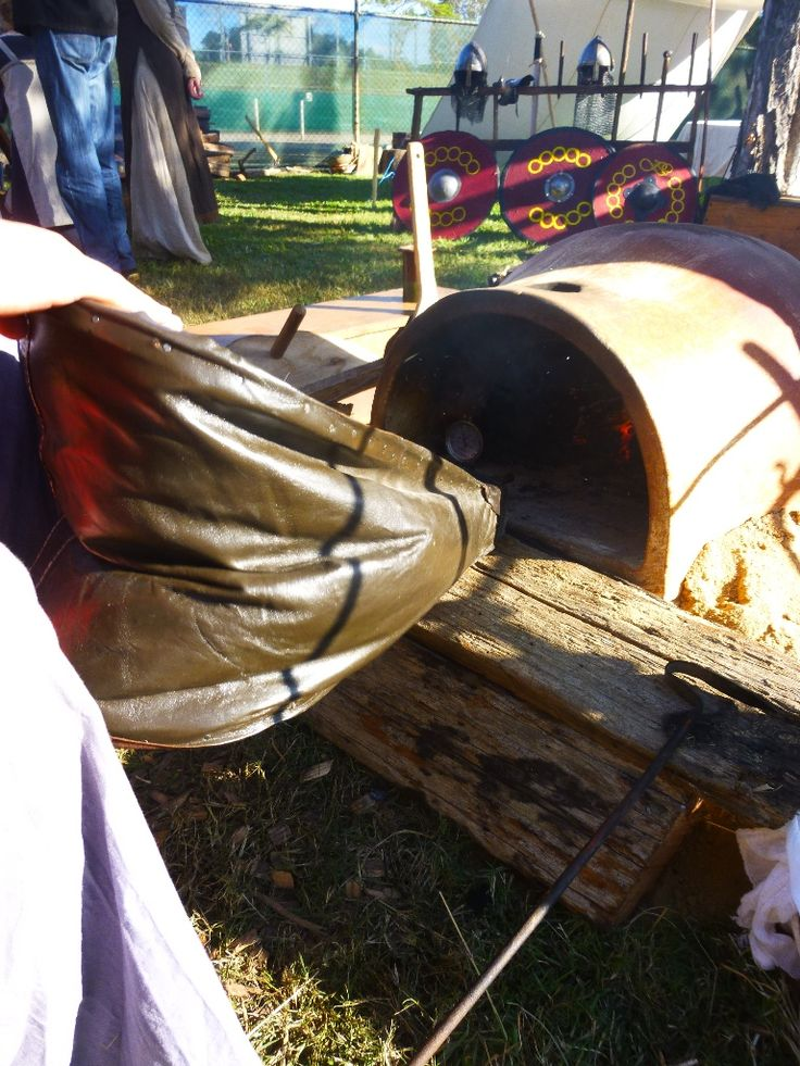 Bellows and wood fired bread oven