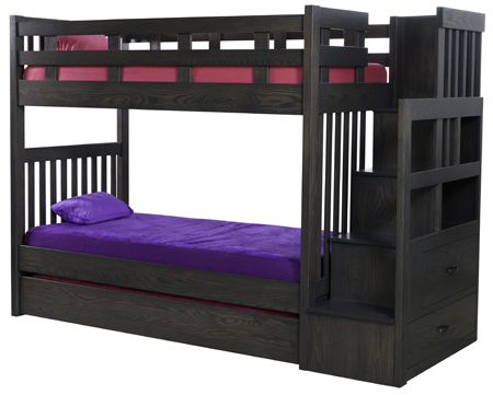 Up To 33 Off Modern Mission Staircase Bunkbed With Trundle