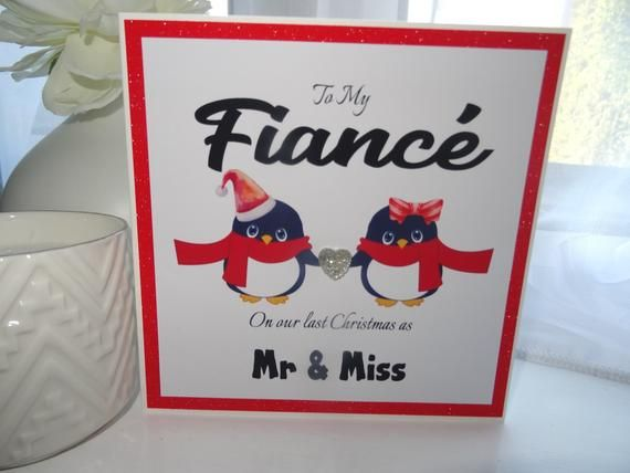 Handmade Personalised last Christmas as Mr /& Miss Fiance Fiancee