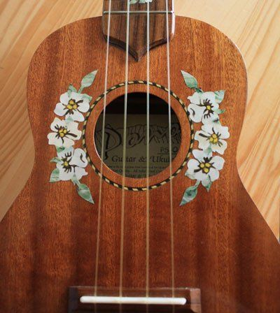 Amazon.com: Ukulele - Hibiscus Flowers Rosette Purfling Inlay Stickers Decals: Musical Instruments