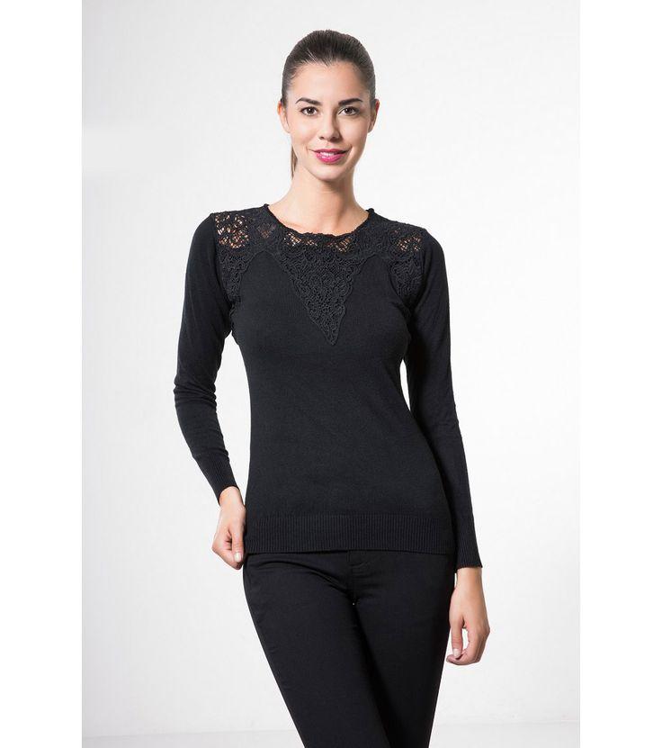 Bluză de culoare neagră Artemis - Haine de damă - Lichidare de stoc - bluze pentru doamne - Bluze mâneci lungi