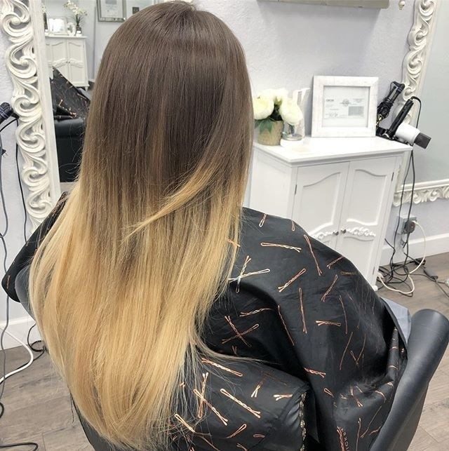 #alumniinaction @michelle__smith_ . From short to long 18/20 inch extensions This client is unable to color/lighten her hair due to henna pigments lingering in her hair that caused damage.. We perfectly color matched her hair to create the perfect ombré            #LytlesBeautyCollege #LytlesLife #LytlesREBC #Lytles #BeautyCollege #Cosmetoloy #Cosmetologist #CosmetologistInTraining #Esthetics #Esthetician #EstheticianInTraining #DoWhatYouLove #SantaRosaBeautyCollege…