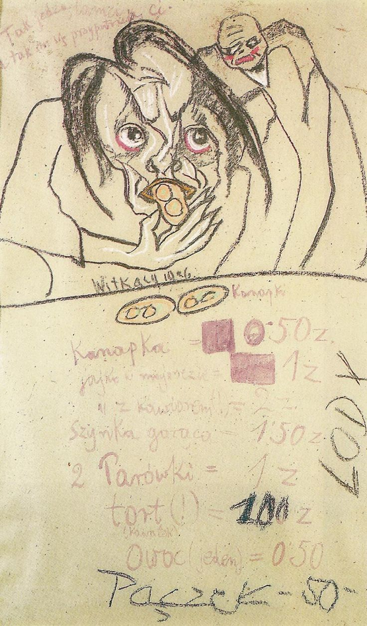 How they eat, and how others look at them 1926 Stanislaw Ignacy Witkiewicz