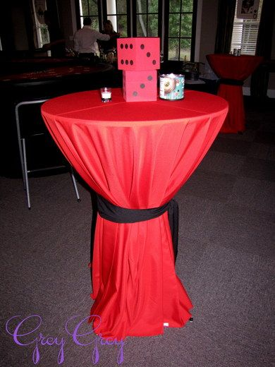 "Easy idea for standing tables Casino / Birthday ""Casino 40th Birthday "" 