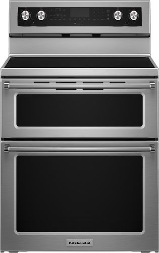 kitchenaid 6 7 cu ft self cleaning freestanding double oven rh pinterest com