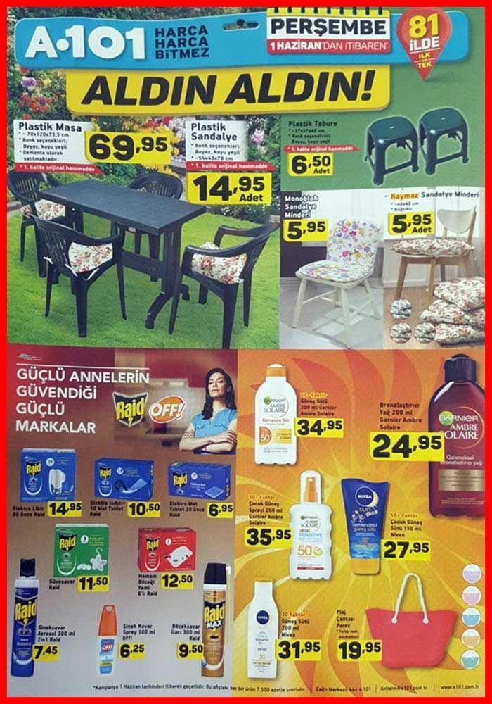 A101 marketlerde 1 Haziran ile 8 Haziran Perşembe günleri arası satışa başlanacak tüm ürünler.