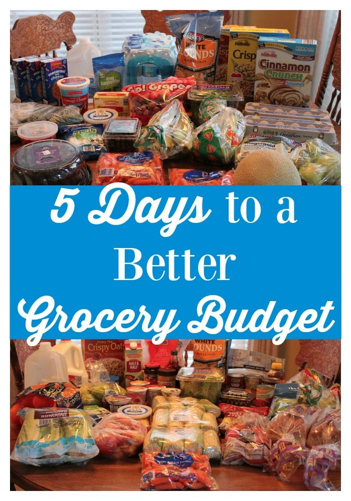 Follow this 5-day series that will help you set up a grocery budget for your family that you can finally STICK to!