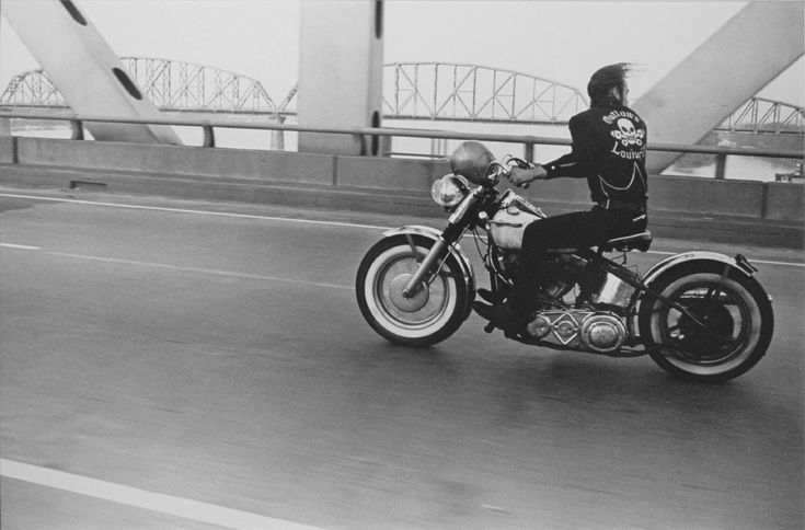 this inspired a fashion collection and then a cross-the-country motorcycle trip. photo by danny lyon
