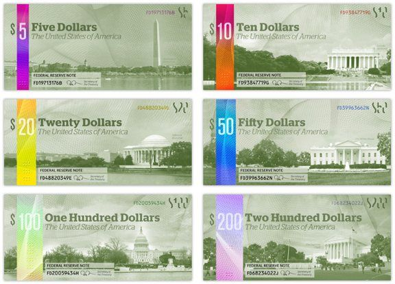 U.S. CURRENCY REDESIGN BY MICHAEL TYZNIK