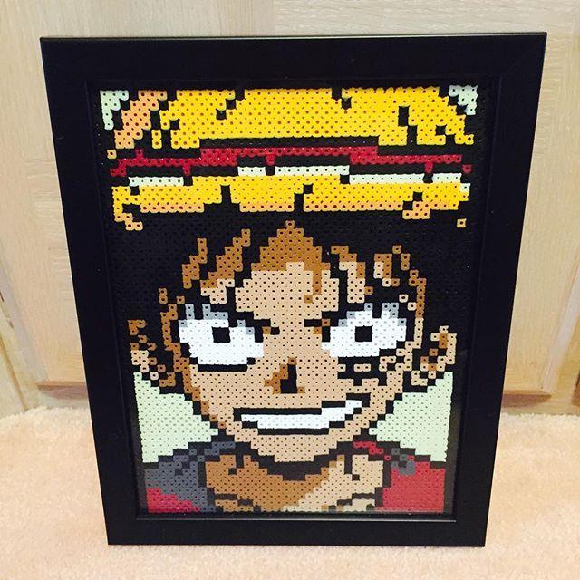 Luffy - One Piece perler beads by christoperler