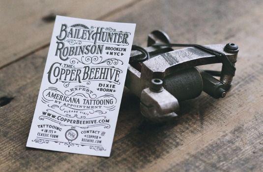 letterpress business card - Bailey H.Robinson