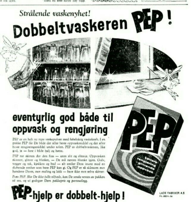 PEP vaskepulver 1958