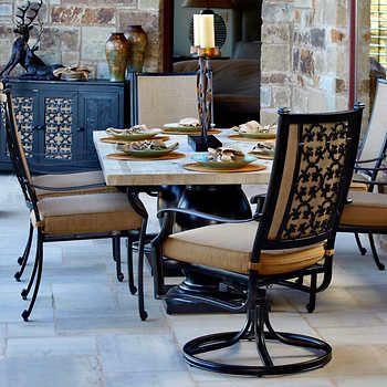 tivoli 7 piece sling dining set in 2019 costco dining set rh pinterest com